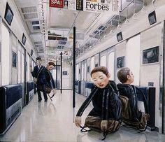 Surrealistic paintings by Tetsuya Ishida ::: Pink Tentacle