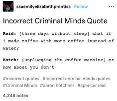 Criminal Minds Memes, Spencer Reid Criminal Minds, Tumblr Funny, Funny Memes, Chocolate Thunder, Behavioral Analysis Unit, Reddit Funny, Crimal Minds, Narnia