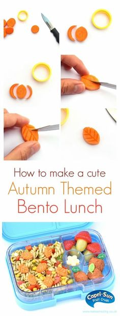 How to make a cute autumn themed bento lunch – fun kids lunch idea from Eats Amazing UK and Capri-Sun Fruit Crush