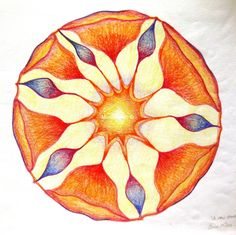 1 Mandala - My very First Mandala, by Miekrea NL - 9 Sept. 1992 (used: crayons)