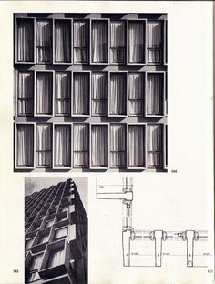 Precast concrete cladding; 1966. Reminds me of Louise Nevelson.
