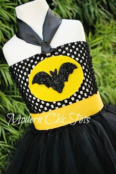 Batman/Bat-Girl tutu Halloween costume