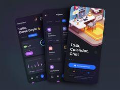 TaskEz: Productivity App iOS UI Kit by Tran Mau Tri Tam ✪ for UI8 on Dribbble