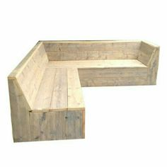 Drawings for scaffolding wooden corner bench, garden bench to make yourself. Garden Seating, Outdoor Seating, Outdoor Sofa, Outdoor Living, Deck Furniture, Pallet Furniture, Modern Wall Decor, Planer, Wood Projects
