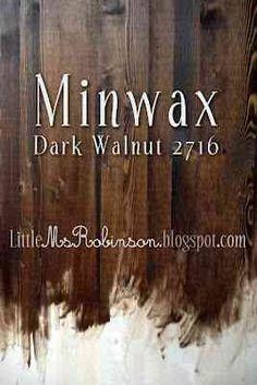 Stain color - minwax dark walnut