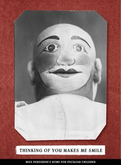 because my creepy love doesn't scare you enough, here, have a vacant-eyed clown.