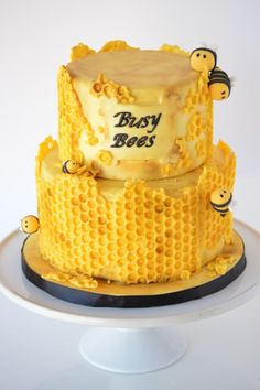 Honeycomb Bee Cake - Cake by SugarBritchesCakes Honeycomb Bee Cake - Kuchen von SugarBritchesC Bee Cakes, Cupcake Cakes, Beautiful Cakes, Amazing Cakes, Bee Birthday Cake, Bolo Fack, Honeycomb Cake, Dessert Original, Crazy Cakes