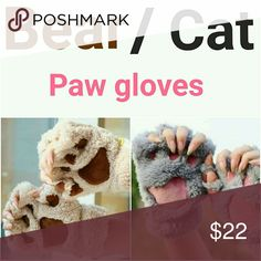 🔥BEAR / CAT PAW GLOVES FREE GIFT WITH CLOSET PURCHASE! ONE PER PURCHASE! PLEASE, LET ME KNOW WHAT WOULD YOU LIKE TO GET! Brand new with tags!  Excellent condition!  * Same or next day shipping.  * NO Trade! Accessories Gloves & Mittens