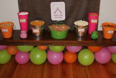 "Photo 1 of 40: Camping Party for 7 year old girls / Birthday ""Camp Bridget"" 