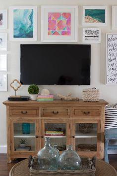 How to Build A Gallery Wall Around The TV