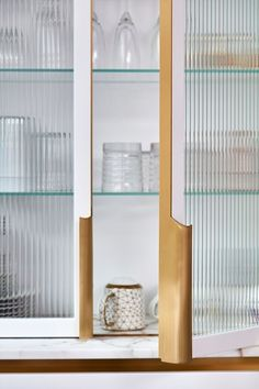 blaes of london white kitchen how to start a kitche renovation cabinet ribbed glass cabinetry wall unit . Glass Kitchen Cabinets, Glass Cabinet Doors, Sliding Glass Door, Dish Cabinet, Touchless Kitchen Faucet, Kitchen And Bath Design, Kitchen On A Budget, West London, Layout