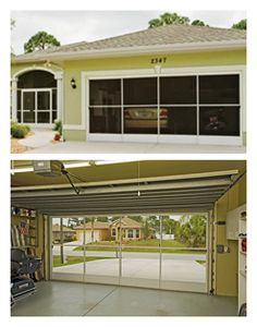A giant screen door for the garage will allow the breeze in but keep the nosy neighbors out!