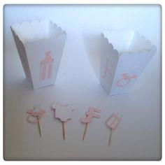 Mais um bocadinho dos miminhos feitos para o BabyShower da Francisca! #kids #babyshower #baby #babygirl #popcorn #toppers