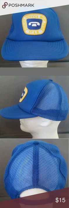 Vintage Telephone Company Hat ST&B For sale is a Vintage Telephone Company Ball Hat ST&B Mesh Cap Blue Quality Service with Pride   Hat is in good used condition Wilson Accessories Hats