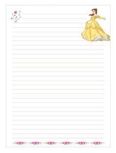 papel de escribir cartas niños disney