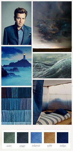 """L'atelier de la Marquise : la palette du mois de la Marquise """"Tout le monde l'appelait l'Anglais mais il était écossais. Sous la vague de son regard, on voyait l'infini d'un océan où faire naufrage."""""""