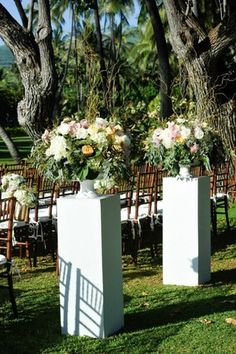 Ceremony Entrance Arrangements by Passion Roots-Eric Rhodes Photography