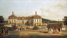 """Bellotto Bernardo - Emperor S Pleasure Palace Court Of Honour 1758 61 (from <a href=""""http://www.oldpainters.org/picture.php?/45290/category/15206""""></a>)"""