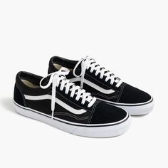 Vans® Old Skool sneakers in black J Crew Sneakers 019a0c215