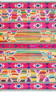 MunseyMJ01 Flatweave Cotton Vibrant Tribal Stripes Rug