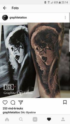 Kiss Tattoos, Tattoo Photos, Portrait, Headshot Photography, Portrait Paintings, Drawings, Portraits