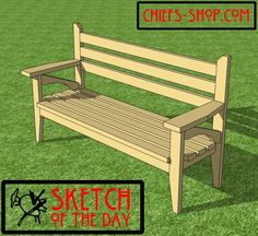 Sketch of the Day: Outdoor Bench
