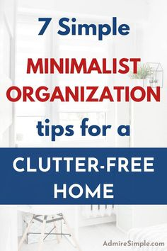 Learn how to organize your home. Organization tips and habits for a clutter-free home. Small Room Organization, Home Organization Hacks, Organization Ideas, Minimalist Living Tips, Minimalist Kids, Declutter Your Home, Organizing Your Home, Clutter Free Home, Small Room Decor