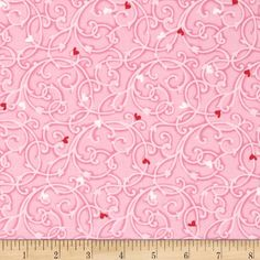 Heart & Soul Swirls Pink from @fabricdotcom  Designed by Exclusively Quilters, this cotton print fabric is perfect for quilting, apparel and home decor accents. Colors include pink and red.