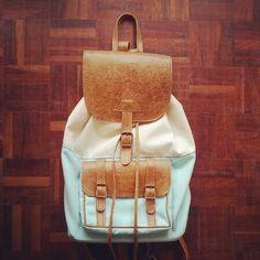 Leather canvas bag by Rowdy facebook.com/rowdybags