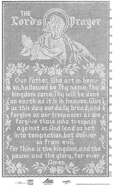 The Lord's Prayer Filet Crochet Wall Panel #703 chart