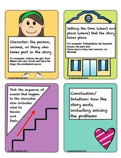 http://www.teacherspayteachers.com/Product/Story-Element-Posters-and-Cards-for-Every-Classroom-756776: Story Element Posters and Cards for Every Classroom