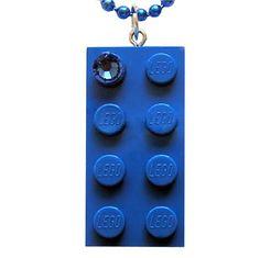 Dark Blue LEGO R brick 2x4 with a Blue by MademoiselleAlma #MademoiselleAlma #LEGO #ETSY