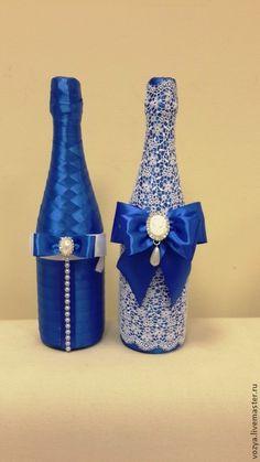 бутылки шампанского украшенные кружевом - Поиск в Google