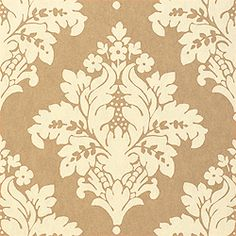 Sydney Damask #wallpaper in #taupe from the Filigree collection. #Thibaut