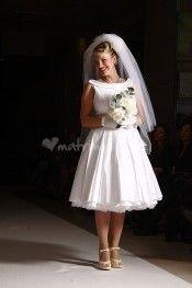 Abito da sposa bianco in tessuto piquet