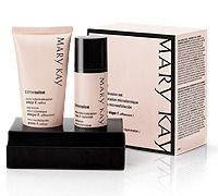 Mary Kay Cosmetics TimeWise Microdermabrasion Set- at home chemical peel with fantastic results for a fraction of the cost.