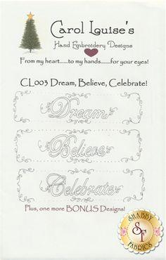 Dream, Believe, Celebrate! Pattern