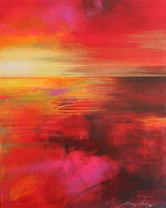 "For Sale: Solar Sunset by Mary Maguire | $750 | 24""w 30""h 