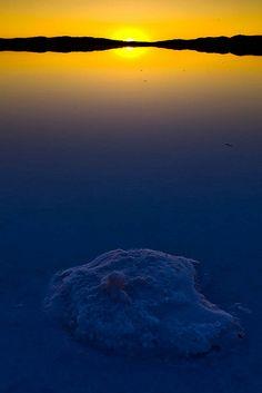 "Sunset over Bear Head in the Great Salt Lake, Utah; photo by Scott Stringham ""Rustling Leaf Design"", via Flickr"