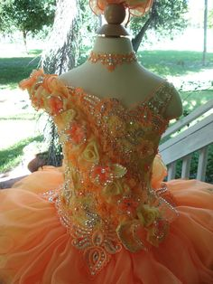 National Glitz Pageant Dress Custom Order by by NanaMarieDesigns