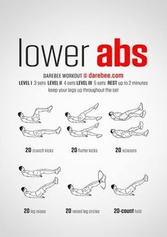 | Posted By: NewHowtoLoseBellyFat.com | More Men's Fitness, Health Fitness, Darebee, Lower Ab Workouts, Getting Back In Shape, Healthy Exercise, Sweat It Out, Lower Abs, Workout Tips
