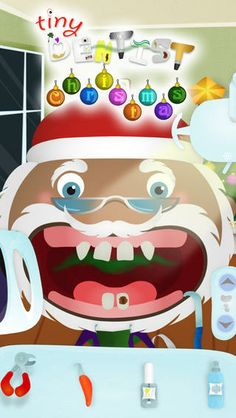 Tiny Dentist Holidays: Christmas - Too many cookies for Santa has landed him in the dentist's chair! Kids get to be the dentist for a day with the holiday version of this educational app.