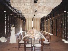 Warehouse Madrid Modern Wedding Reception Venues Tent