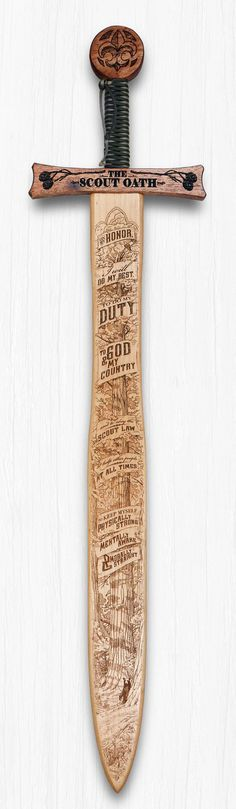 Boy Scout Oath - Wooden Sword Wall Art