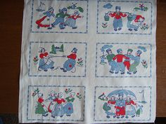 Vintage dutch fabric by mary made me, via Flickr