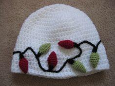 Light Bulb Christmas Hat pattern by Julie Lapalme behold: my christmas crochet project! Frankie would totally wear this!behold: my christmas crochet project! Frankie would totally wear this! Crochet Baby Hats, Crochet Gifts, Diy Crochet, Crocheted Hats, Crochet Ideas, Crochet Christmas Hats, Holiday Crochet, Christmas Holiday, Yarn Projects