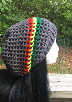 388c460527c S-XL Mesh Summer charcoal gray red yellow green rasta dreadlock Slouch –  Irie Eye Creations