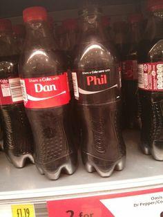 Dan and phil coke bottles!!