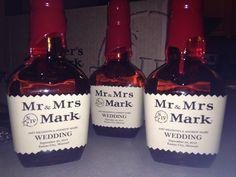 Makers Mark Wedding Label