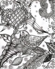 Doodle Daze Designs & Zentangles on Facebook by Carolyn Boettner